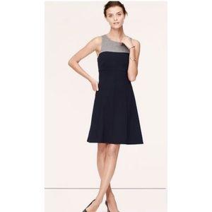 Ann Taylor Loft Blue & Gray Color Block Dress
